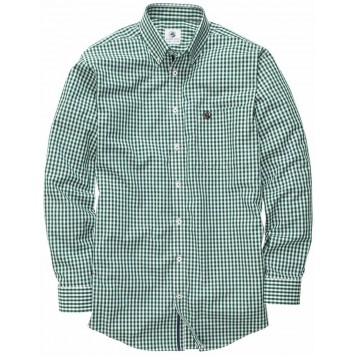 The Goal Line Shirt - Hunter Green Gingham